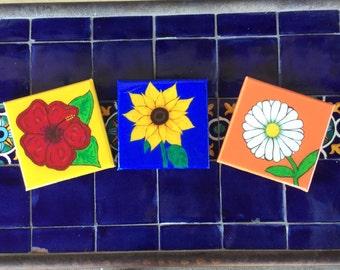 Vibrant flower wall art
