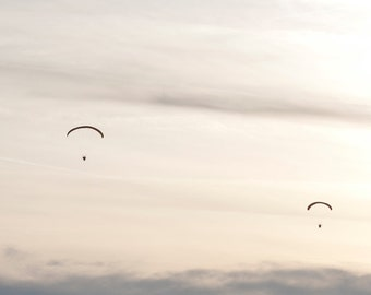 Paraglider over the southern Vosges, France 2010, Fine Art Print signed with embossing