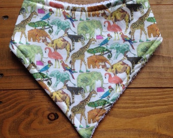 Bandana Bib - Liberty London Queue For The Zoo