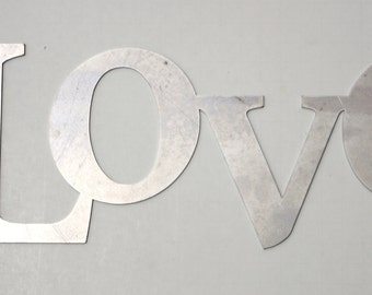 Metal 'Love' Sign - Laser Cut