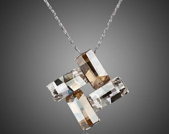 Four Rectangles Connected Necklace