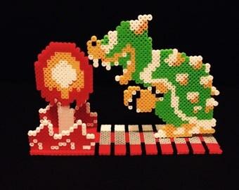 Super Mario Bowser Perler Scene