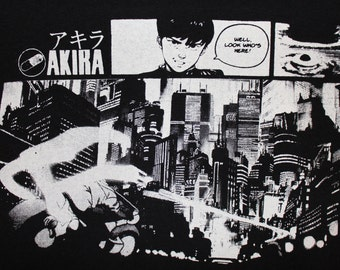 Akira T-Shirt Black~~Free Shipping~~Manga Anime Classic Japan Kaneda Tetsuo Motorcycle