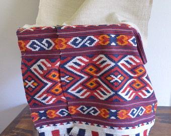 Vintage Linen Handwoven Long Table Runner / Home Loomed Vintage Romanian Hemp Table Linen / Handwoven Hemp Fabric from Transylvania /Textile