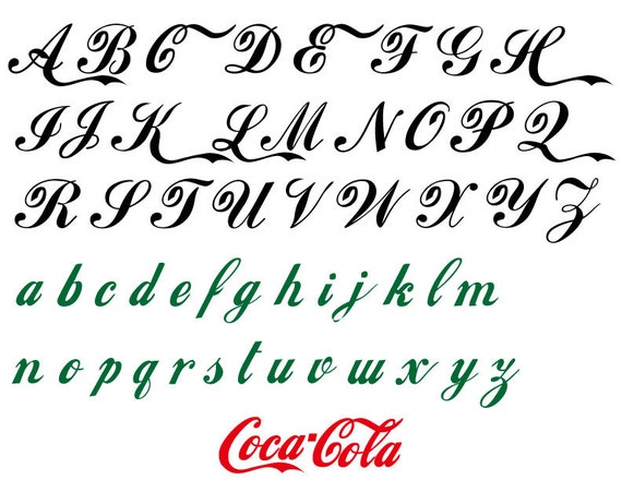 Top ID: CF00013 Fashion Font Coca-Cola Style Vinyl Adhesive GC66