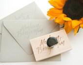 Custom Rubber Stamp | Names + Address