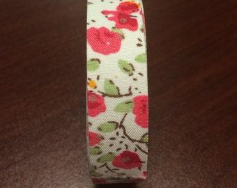 Pink Chintz Fabric Tape