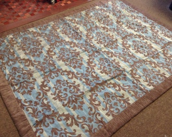 Custom made, high end,  decorative fabric throw