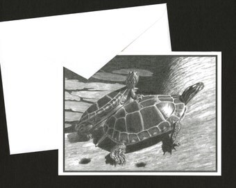 Red-Eared Box Turtles Greeting Card