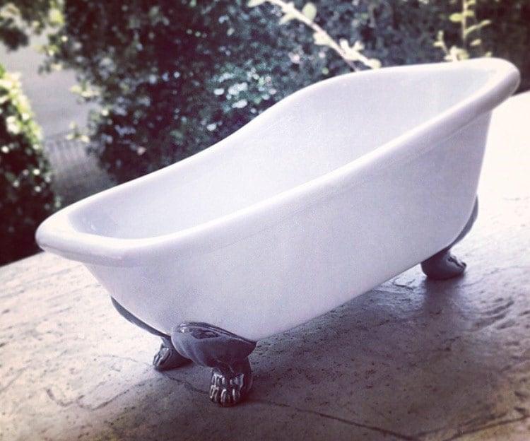 Tiny Clawfoot Bathtub Little Bathroom Soap Dish Caddy