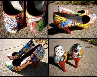 Comic Book Heels - Superhero Heels - Comic Book Flats - Superhero Flats - Star Wars Heels - Avengers Heels - Marvel Heels - DC Heels
