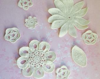 Chrochet flowers, handmade flowers