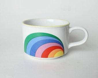 Big Rainbow mug, vintage