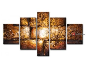 Abstract concrete wall art