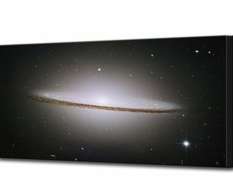 The Sombrero Galaxy Canvas Print Hubble Telescope Framed Ready To Hang Wall Art Picture