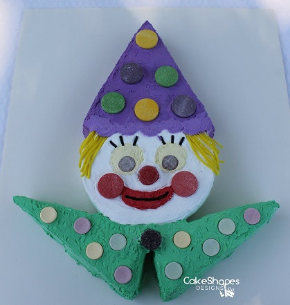 Clown Cut Up Cake Pattern