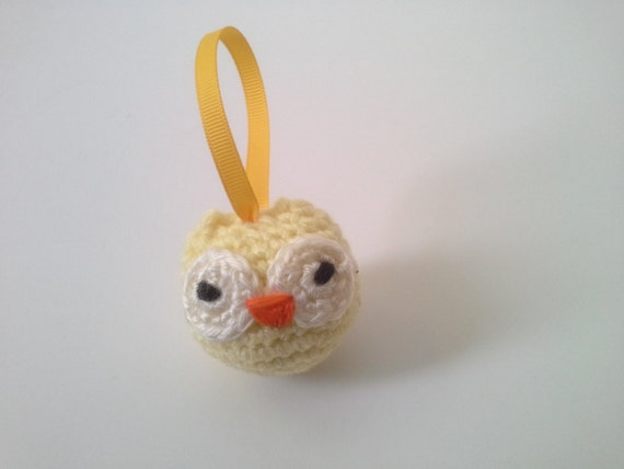 Owl Miniature Crochet Owl Owl Amigurumi Owl Keychain by ...