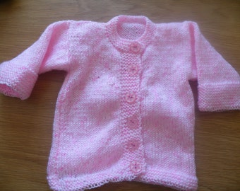 Pink long sleeved cardigan for 6-12 month old