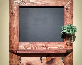 Entryway Chalkboard Organizer, Chalkboard Shelf, Entry, Command Station, Chalkboard Key Hooks, Coat Rack