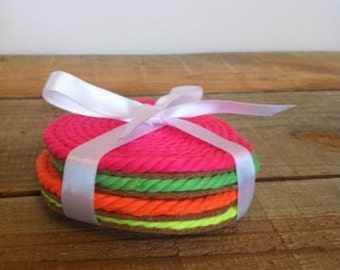 Neon Rope Coasters