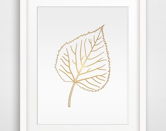 Gold Leaf Printable art, Wall Prints, Wall art, Printable Wall Art, Home Print, Downloadable Wall Prints, Digital Art