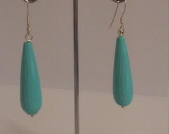 turqoise drops earrings
