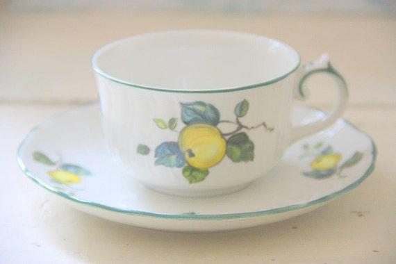 Vintage Villeroy and Boch Jamaica Porcelain Cup and Saucer