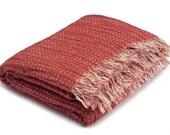 SPECIAL OFFER Linen/Cotton Blanket, Eco Blanket, Linen Red Blanket, Linen Wrap, Linen Bed Throw