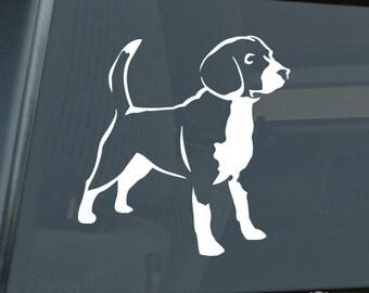 Beagle Die Cut Vinyl Sticker - 014
