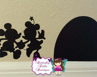 The ORIGINAL Mickey & Minnie's Mouse House Wall Decal