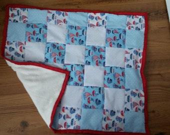 boat baby patchwork blanket/playmat