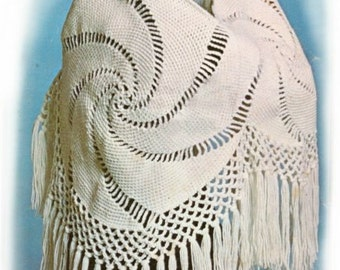 pattern, crochet shawl pattern,summer shawl, vintage crochet pattern, pattern,