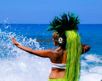 Tahitian costume Hau head piece