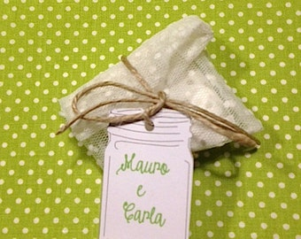 Little Bags Handmade with pois tulle and tag