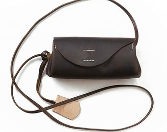 "Leder Schulter Tasche ""Freedom"", Brown Leather shoulder bag "" Freedom"","