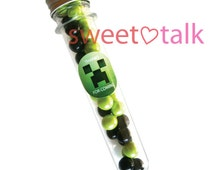 Minecraft Chocolate Party Favour - Candy Test Tube Bomboniere, with Chocolates. Perfect for Minecraft themed Birthday Parties