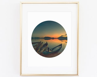 Sunset Circle Digital Print, Instant Download, Digital Prints, Digital Art,Sunset art sunset print, circle photography, Geometric Print
