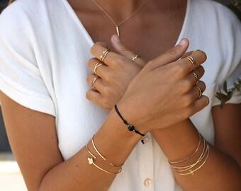 LEAF bangle - Gold plated silver bracelet - minimal bracelet - leaves bracelet - leaf bracelet - gols leaf bracelet