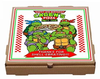 personalized Teenage Mutant Ninja Turtles Pizza box label - Printable