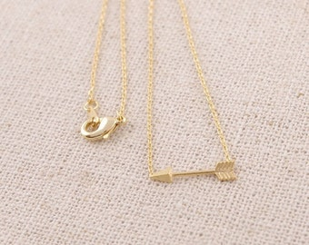 18k Gold plated arrow pendant necklace