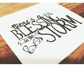 Hand-lettered Typography Quote