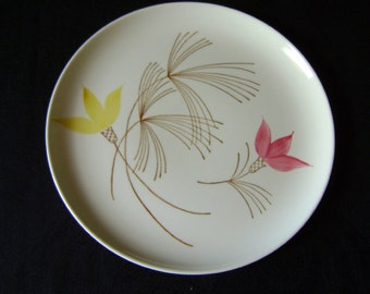 Vintage 1958, Hand Painted Stetson China Dinner Plate, Retro, Mid-Century Modern