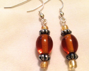 Amber Bead Earrings