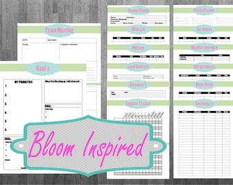 Direct Sales Printable Planner sheets Option 1