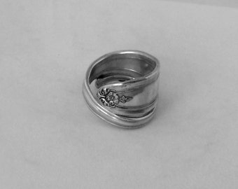 Spoon Ring Vintage Ring Handmade Gift Silver Ring--222