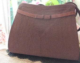 Vintage 1960's 'Corde' Handbag/1960's Handbag/Brown Handbag/Quality Handbag/  SALE  (23Z)