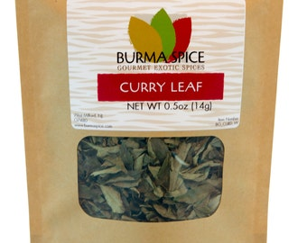 Dried Curry Leaves in Bag, 0.5oz.
