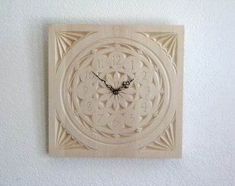 Medium Chip Carved Wall Clock