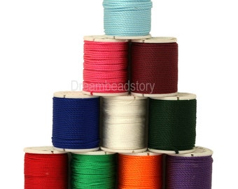 5 Spools 1mm Nylon Cord for Jewelry Beading, Chinese Knotting Cord (P169)