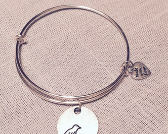 Antiqued Love Bird Charm Bracelet